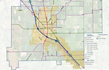 TRANSPORTATION & UTILITIES MAP